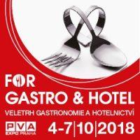 Zúčastníme se veletrhu FOR GASTRO & HOTEL, který proběhne od 4. 10. do 7. 10. 2018